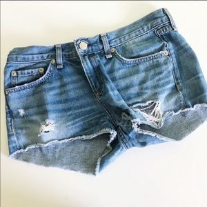 Rag & Bone Distressed Mila Jean Short 25